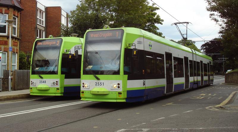 Trams in Croydon - photo by Julian Walker on Flickr