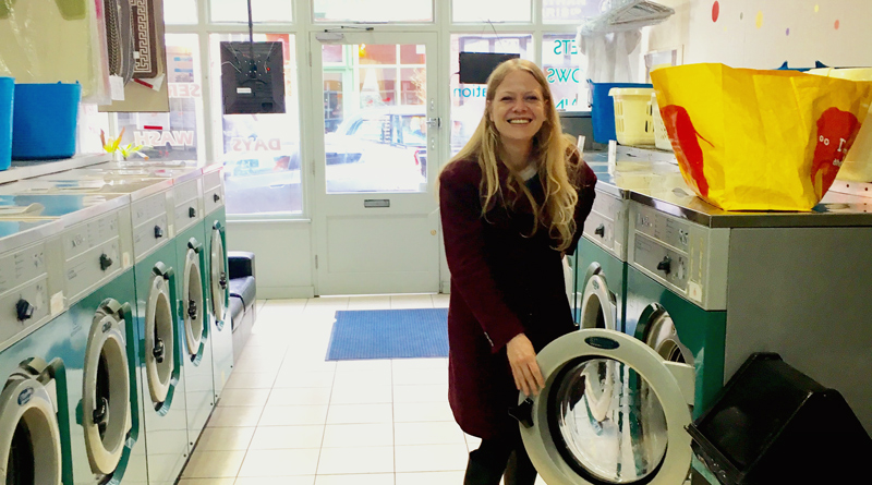 Sian Berry in her local launderette