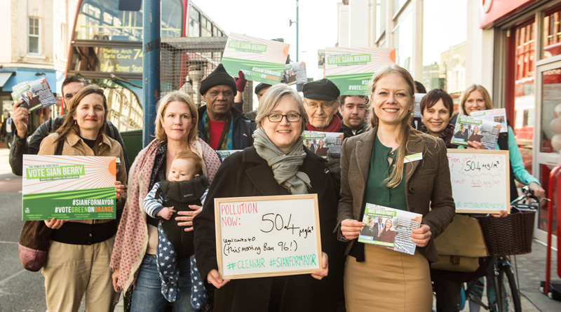 Green campaigners in Putney