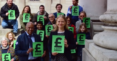 Sian Berry and London Greens at the Bank of England