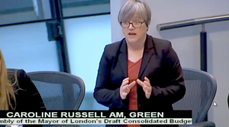 Caroline Russell AM speaking on the 2017/18 budget