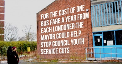 For the cost of one bud far a year the Mayor could help stop council youth service cuts