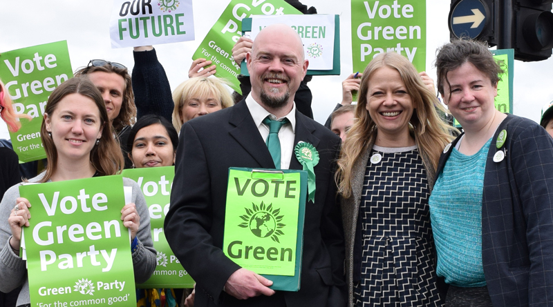 Sian Berry with Green candidates for the general election