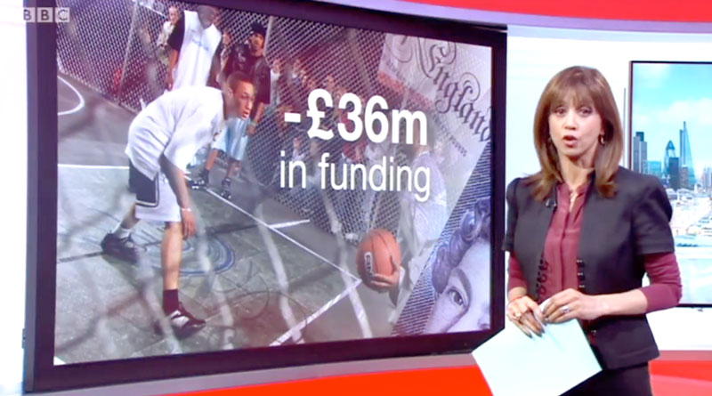 BBC news report on youth service cuts