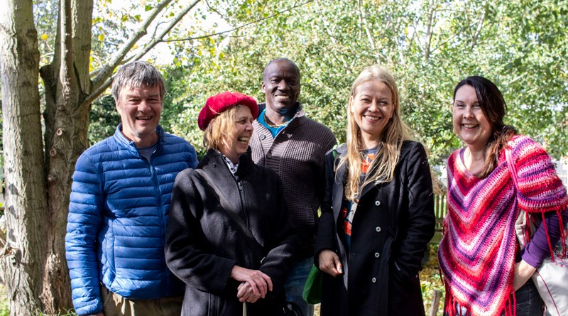 With campaigners at Old Tidemill garden