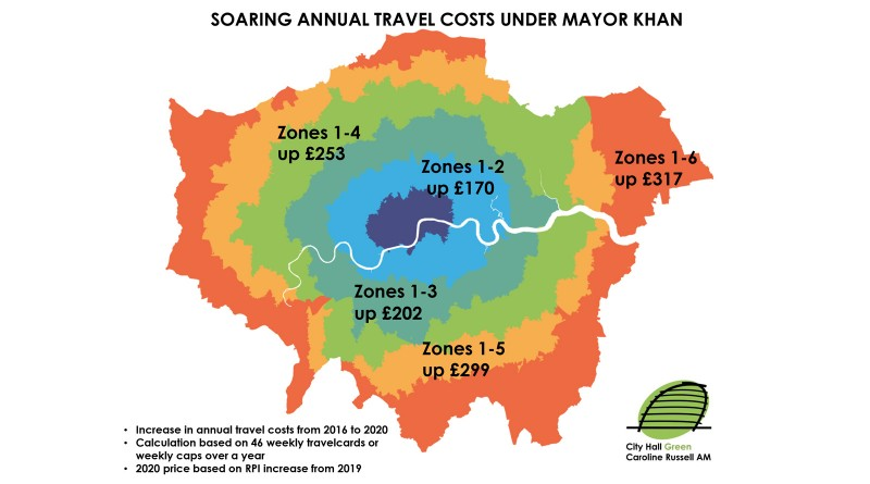 Soaring annual fare rises under Mayor Khan